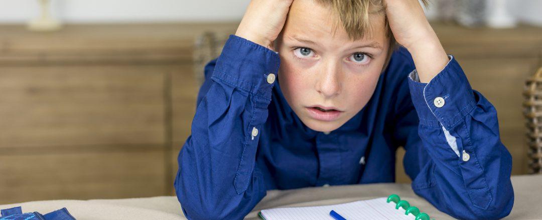 Student struggling with homework